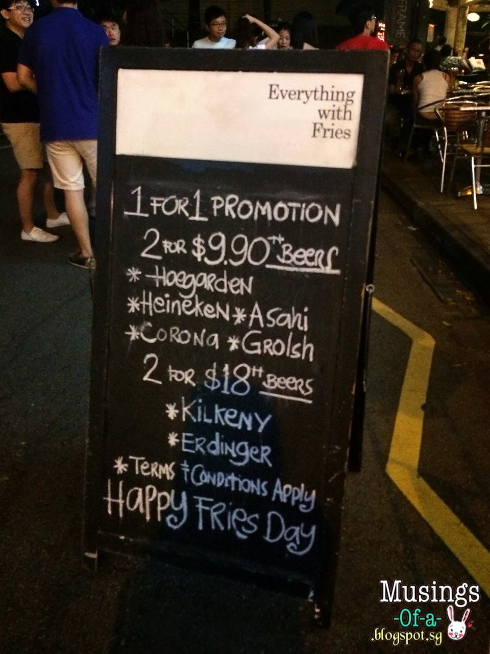1 for 1 Beer Promotion
