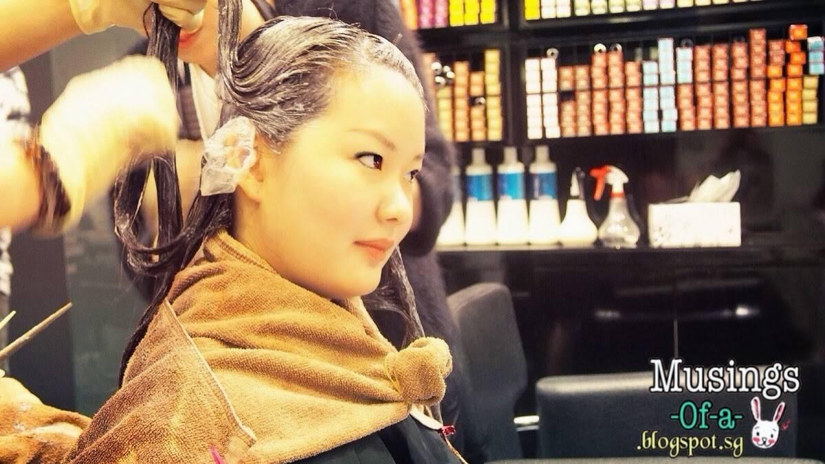 application of hair dye