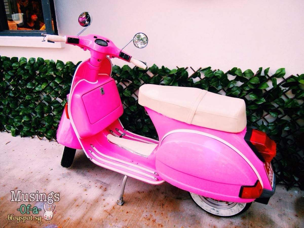 Retro Neon Pink Scooter