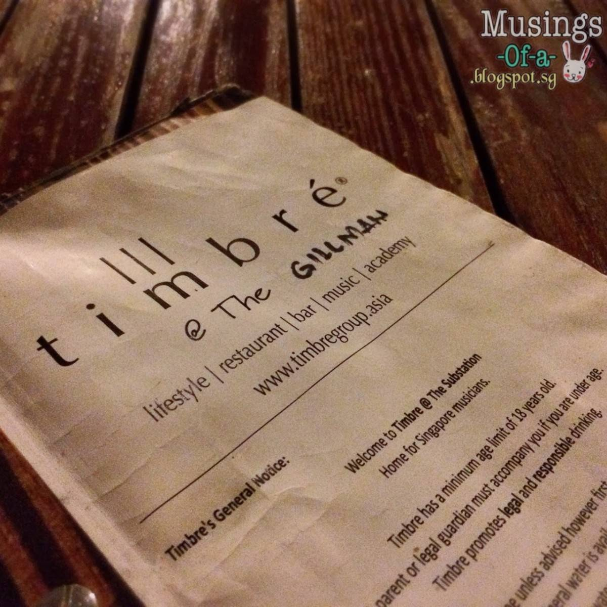 Timbre @ The Gillman: Lifestyle | Restaurant | Bar | Music | Academy
