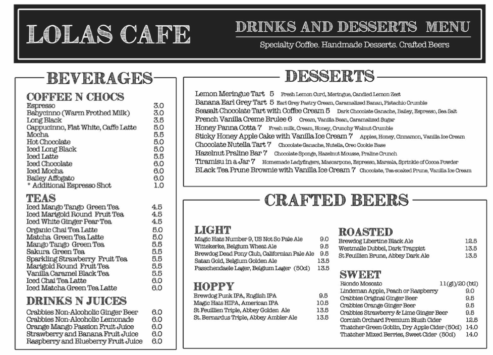 Lola's Café, Simon Road