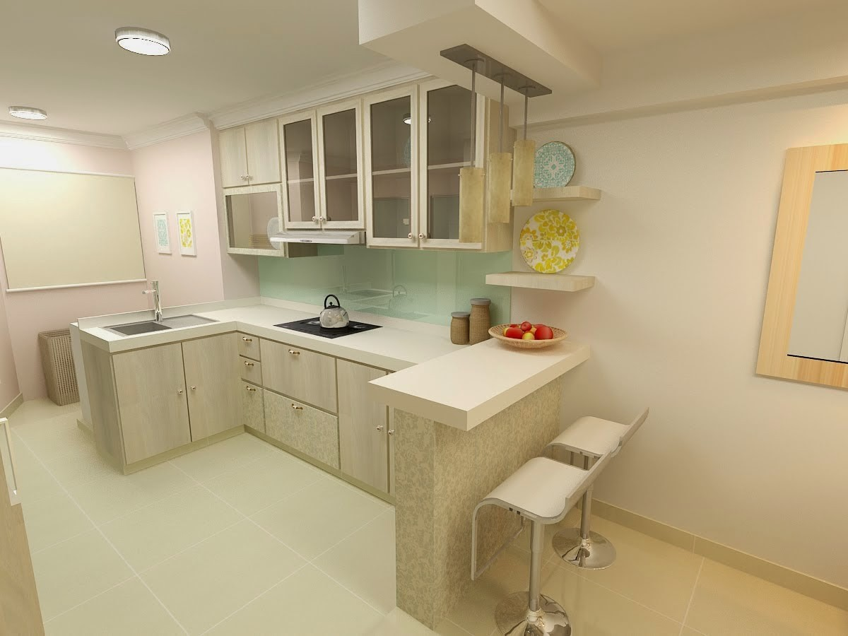 Hdb resale flat journey part 2 hdb interior design for Small flat kitchen design