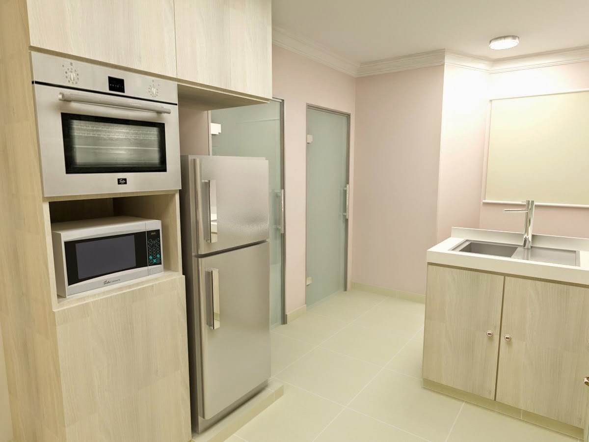 Hdb resale flat journey part 2 hdb interior design for Kitchen design hdb