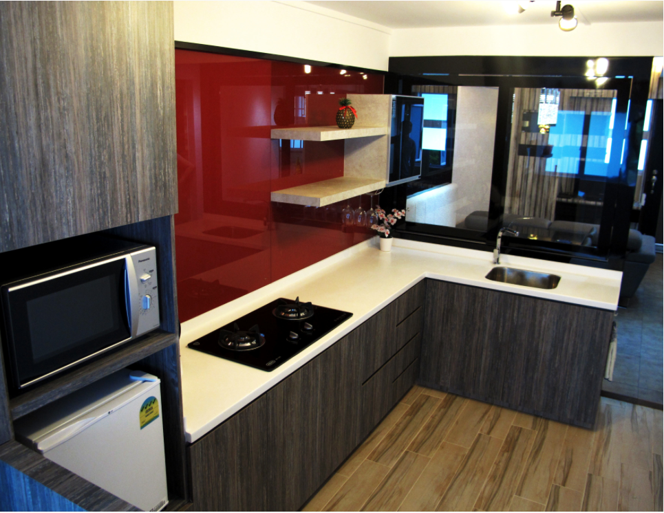 Revised 4 room hdb renovation ideas aldora muses Kitchen backsplash ideas singapore