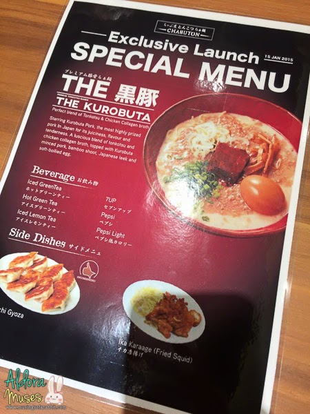 Chabuton Singapore - Launch of Premium Tonkotsu Ramen - The Kurobuta