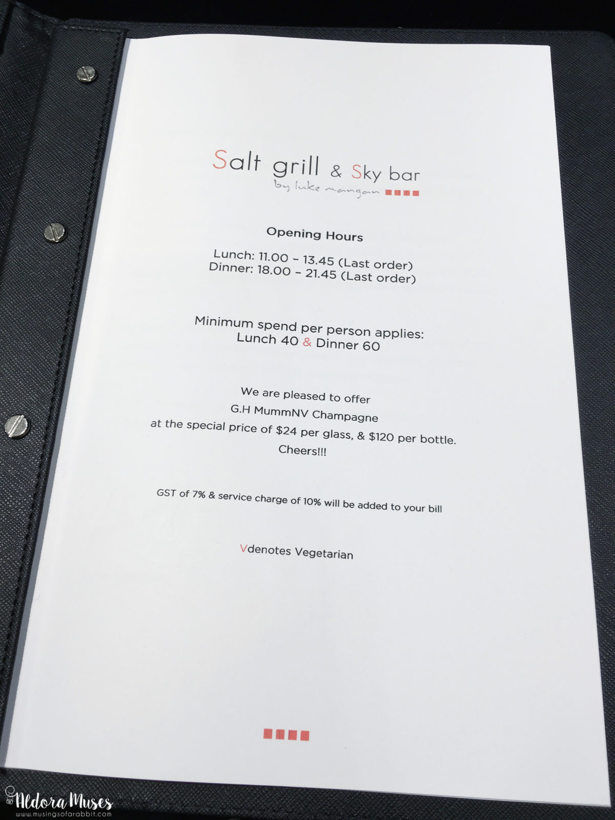 Salt Grill and Sky Bar - Hubs' Birthday 2016