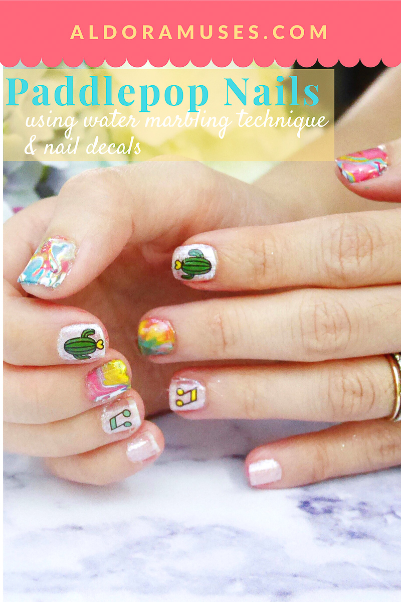 Paddle Pop Rainbow Nailart Tutorial - Aldora Muses