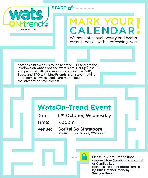 Wats On-Trend Event @ Sofitel So Singapore