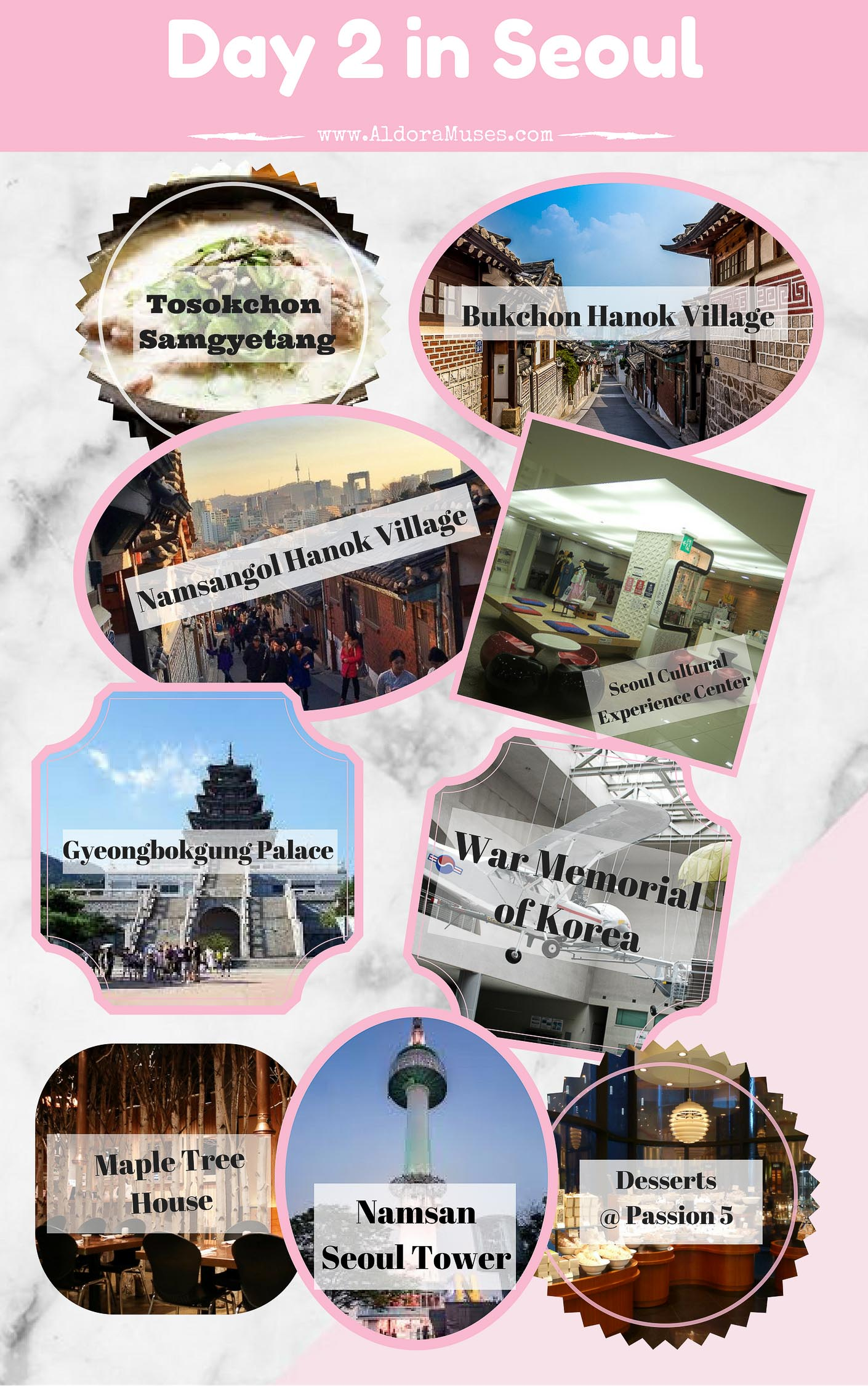 8D7N Seoul Itinerary + Nami Island