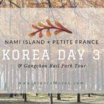 Day 3: Nami Island, Gangchon Rail Park & Petite France Tour