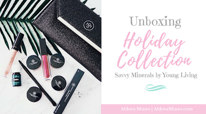 Unboxing Holiday Collection Savvy Minerals by Young Living